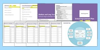 School Improvement Plan Template - school, plan, improvement