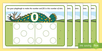 Dinosaur Hungarian Number Pictures 0-10 Playdough Mats -  Early Years, EYFS, Foundation, Mathematics, Maths, Maths Mastery,Subitising