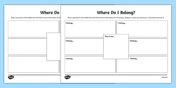 What Does it Mean to Belong? Activity Sheet - what does it mean, belong, activity, religious education, worksheet