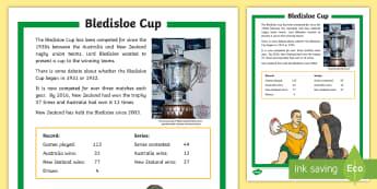 Bledisloe Cup Fact Sheet - Bledisloe cup, Rugby, australia, new zealand, all blacks, wallabies