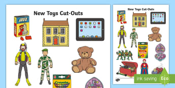 New Toys Cut-Outs - new toys, cut out, display, toys, role-play
