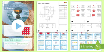 States of Matter Revision Pack - states of matter, Particle Model, Solids, Liquids, Gases, Particulate Matter, KS3, revision, science