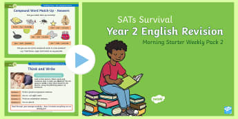 SATs Survival: Year 2 English Revision Morning Starter Weekly PowerPoint Pack 2 - SATs Survival Materials Year 2, SATs, assessment, 2017, English, SPaG, GPS, grammar, punctuation, sp
