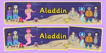Aladdin Display Banner - aladdin, banner, display banner, story