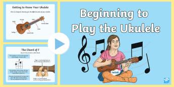Ukelele for Beginners PowerPoint