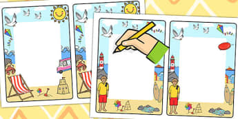 Seaside Themed Editable Notes to Teacher - sea side, praise notes