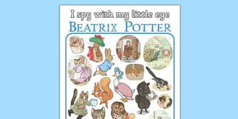 I Spy With My Little Eye Beatrix Potter - I spy, little eye, beatrix potter, author