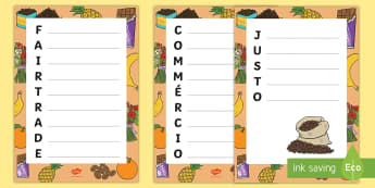 Fairtrade Acrostic Poem English/Portuguese - Fairtrade Acrostic Poem Template - fairtrade, poetry, poem, poems, poerty, petry, peoms, poety, temp