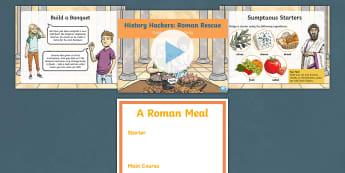 History Hackers: Roman Rescue Build a Banquet Activity Pack - food, diet, menu, feast, emperor