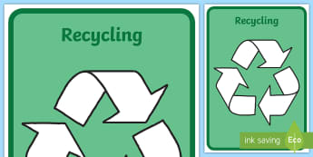 Recycling Symbol Display Poster - recycling, reuse, poster, New Zealand, symbol, sustainability, all ages, display