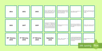 Signing of the Treaty of Waitangi Timeline Matching Cards - Treaty, Treaty of Waitangi, waitangi, new zealand, aotearoa