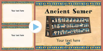 Ancient Sumer Themed PowerPoint Template - ancient sumer template