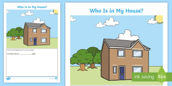 Who Is in My House? Activity Sheet - Australian History, Australian Families, Families, ACHASSK011, Family Structure, Family History, Per
