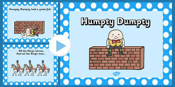 Humpty Dumpty PowerPoint - humpty dumpty, nursery rhymes, nursery rhyme powerpoint, humpty dumpty nursery rhyme powerpoint, humpty dumpty sat on a wall
