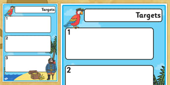 Pirate Theme Editable Pupil Target Sheets - target sheets, editable target sheets, pirates, pirate theme target sheets, target templates, pupil targets