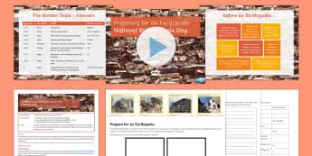 Preparing for an Earthquake Lesson Pack - Richter Scale, earthquake, plate boundaries, prepare, plan,