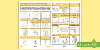 KS2 World Book Day Design a Book Craft - reading, make, front cover, contents, design, author, illustrator