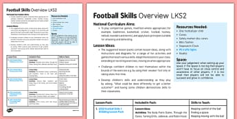 Football Skills Overview LKS2 - football, PE, sport, exercise, KS2, LKS2, Key Stage 2,  year 3, year 4, skills, physical education, ball skills, team sports