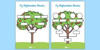 Fy Nghoeden Deulu Welsh - welsh, wales, my family tree, family tree, family, tree