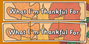 Thanksgiving Display Banner - thanksgiving, display banner, display poster, sign, wall display, header, turkey, harvest celebrations, autumn, united states, usa, canada, holiday, reformation