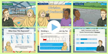 Year 4 Fractions and Decimals Maths Mastery PowerPoints Resource Pack - bar modelling, Reasoning, Greater Depth, Abstract, Problem Solving, Explanation,