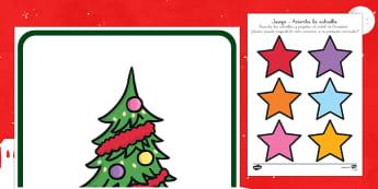 Juego: Acierta la estrella - jugar, navidad, reyes, actividades