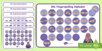 British Sign Language (BSL) Fingerspelling Alphabet Mat Pack - learning bsl, bsl fingerspelling, manual alphabet, two handed spelling, deaf culture, deaf alphabet,