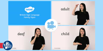 Over 60 Family Signs in British Sign Language (BSL) Video Clip - family signs, BSL Resources, British Sign Language, signing, british sign language, bsl, deaf, hard
