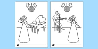 Eurovision Colouring Sheets - eurovision, competition, singing competition, sing, song, europe, countries, colouring sheets