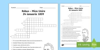 Mica Unire 24 ianuarie 1859 Rebus - Romanian History, istorie, rebus, Principate, Mica Unire, Alexandru Ioan Cuza, 24 ianuarie, 1859, ro