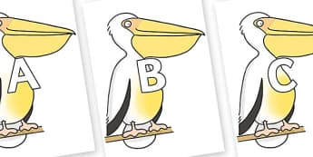 A-Z Alphabet on Pelican to Support Teaching on The Great Pet Sale - A-Z, A4, display, Alphabet frieze, Display letters, Letter posters, A-Z letters, Alphabet flashcards
