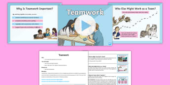 Whole School Teamwork Assembly Pack - together, united, all as one, group, support