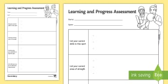 PE Student Learning and Progress Assessment Sheet - Physical education, PE, AFL, Assessment, learning, worksheet