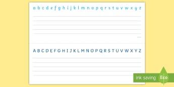 Handwriting Practice Alphabet Strips - Alphabet Strips - alphabet, alphabet strips, alphabet strups, letters, alphbte, alphabet, upper case
