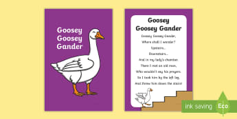 Goosey Goosey Gander Nursery Rhyme IKEA Tolsby Frame - baby signing, baby sign language, communicate with baby, pre verbal baby, tiny talk, sing and sign,