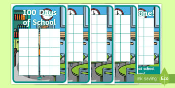 100 Days of School Ten-Frame Sticker Stamp Chart - Ten Frame, Hungarian Number Picture, Maths Mastery, number, counting, calculating, self-registration