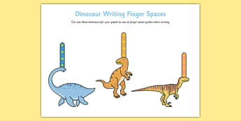 Dinosaur Writing Finger Spacers - dinosaur, writing, finger spacers, write, handwriting