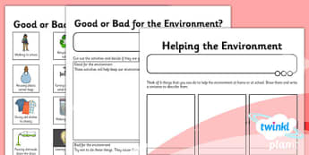 Science: The Environment Year 2 Unit Home Learning Tasks