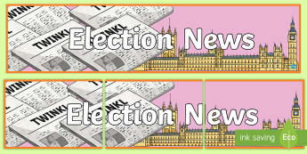 Election News Display Banner - results, brexit, Government, winner, parliament, general election, prime minister, conservative, lab