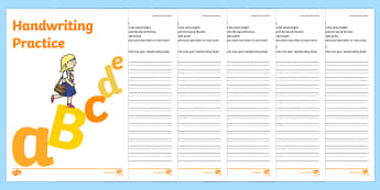 Handwriting Activity Sheet - Handwriting, writing, formation, letter, lines, words, practice, practise, worksheets, ,Australia