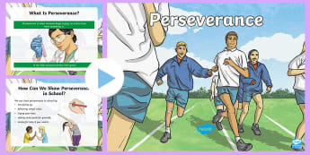 Perseverance PowerPoint - vision, values, aims, bullying, determination,Scottish