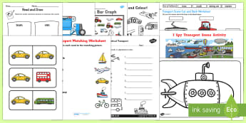 Top Ten Transport  Activity Pack - transport, vehicle, car, bike, train, boat, land, sea, fly, travel