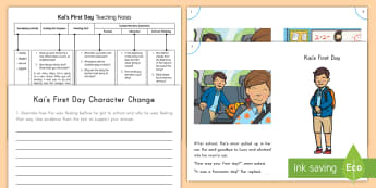 Kai's First Day Guided Reader Teaching Resource Pack - Guided reading, Character Change, Reading comprehension, reading, Reading Response, ELA, daily five,