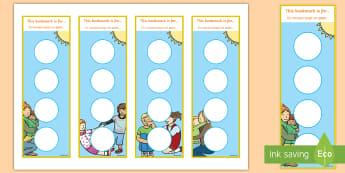 Kindness Sticker Reward Bookmarks English/French - Twinkl Kindness Week, kindness week, twinkl kindness week, kind resources, book marks