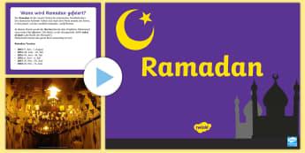 Ramadan Informationen PowerPoint - Ramadan Informationen, Powerpoint, Ramadan, PPT, ppt, Islam, Muslime, Mohammed, Fasten, Fastenzeit,