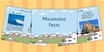 Mountain Facts PowerPoint - mountains, mountain facts, facts about mountains, facts about mountains powerpoint, mountains powerpoint, geography ks2, ks2