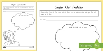 Term 1 Week 1 Year 5 and 6 Chapter Chat Prediction Activity Sheet to Support Teaching On There's a Boy in the Girls' Bathroom by Louis Sachar - Louis Sachar, Chapter Chat, worksheet, Year 5-6, There's A Boy In The Girls' Bathroom, Reading, Cl