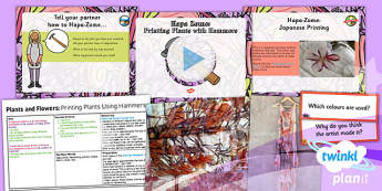Art: Plants and Flowers: Printing Plants Using Hammers UKS2 Lesson Pack 3