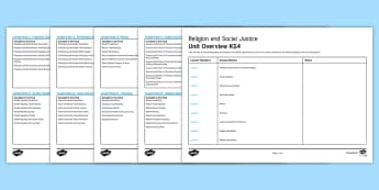 Religion and Social Justice: Unit Overview - Wealth, Poverty, Justice, Racism, Sexism, Homophobia, Human Rights