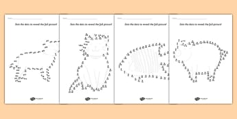 Counting in 2s Dot to Dot Sheets Animals - count, numeracy, maths